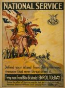 Vintage WW1 Poster. National Service remembrance.